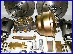 1955-1958 Chevrolet Front Disc Brake Conversion Kit Drilled & Slotted Rotors