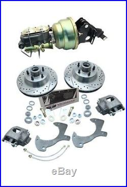 1961-72 FORD Galaxie Cars Power Booster & Disc Brake Kit Drilled/ Slotted Rotors