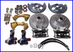1962 1967 Chevy II Chevrolet Nova front disc brake conversion drilled slotted