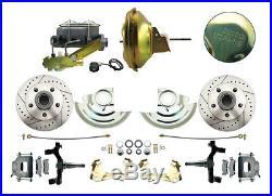 1964 -1972 Buick Skylark Disc Brake Conversion Kit, Drilled & Slotted Rotors
