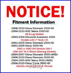 2001 2008 2009 2010 SILVERADO SIERRA 2500HD F+R 330mm DRILL Brake Rotor & Pad
