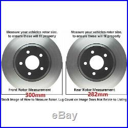 2003-2007 Front+Rear Cross Drill Rotors /& Ceramic Pads for Honda Accord 282mm