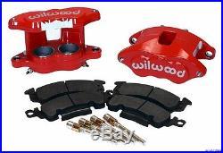 2 Drop Chevelle, GTO, Skylark, 1967-69 Camaro Wilwood Disc Brake Wheel Kit, Red