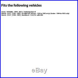 2 FRONT + 2 REAR Black Hart DRILLED & SLOTTED Disc Brake Rotors C1027