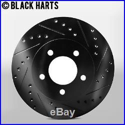 Black Hart *DRILLED /& SLOTTED* Disc Brake Rotors C1027 2 FRONT + 2 REAR