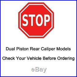 305mm Front + 330mm Rear DRILLED Brake Rotors + DUAL Piston Pad Yukon Tahoe 4WD