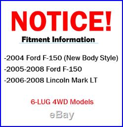 4x4 2005 2006-2008 Ford F-150 6-LUG Front Rear DRILL Brake Rotors + Ceramic Pads