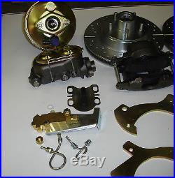 57 58 59 60 Ford full size power front disc brake conversion drilled slotted