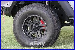 BAER Brake System Front & Rear Kit Red / Black for 2007-2018 Jeep Wrangler JK