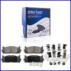 Brake Rotors + Brake Pads Toyota Camry Avalon Lexus ES350 Front Brakes pads Kit