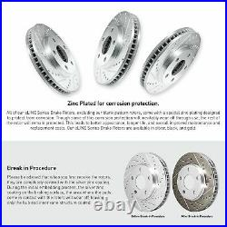 Brake Rotors FRONT+REAR KIT ELINE DRILLED AND SLOTTED & CERAMIC PADS RA46057