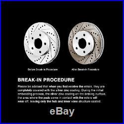 Brake Rotors FULL KIT POWERSPORT DRILLED SLOTTED & PADS -BMW 525i