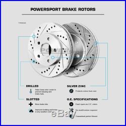 Brake Rotors FULL KIT POWERSPORT DRILL/SLOT -Chevrolet CORVETTE 1984 1987