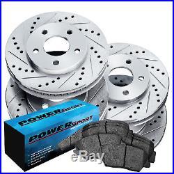 Brake Rotors FULL KIT POWERSPORT DRILL/SLOT & PAD-Lexus IS250 2006 2008