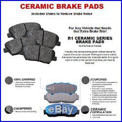 COMPLETE KIT Black Edition Drilled Slotted Brake Rotors & Ceramic Brake Pads
