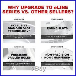 Complete Kit eLine Drill/Slot Brake Rotors & Ceramic Brake Pads Jeep Wrangler