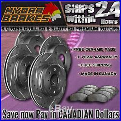 FITS 2009 2010 2011 2012 INFINITI G37X Drill Slot Brake Rotors CERAMIC