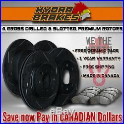 FITS 2012 2013 2014 FORD F150 Drill Slot Brake Rotors CERAMIC BLK