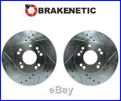 FRONT BRAKENETIC SPORT Drill Slot Brake Rotors 30mm Z32 300ZX Conversion 4/5LUG