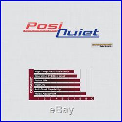 FRONT PREMIUM Drill Slot Brake Rotors + POSI QUIET Ceramic Pads BPK57701