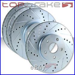 FRONT + REAR SET Cross Drilled Slotted Brake Rotors Evolution EVO 8 9 TBS12341