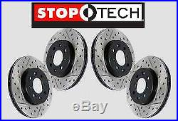 FRONT+REAR SET STOPTECH SportStop Drill Slot Brake Rotors withBREMBO STS57801