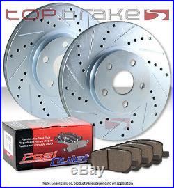 POSI QUIET Ceramic Pads for Chrysler FRONT Drill Slot Brake Rotors