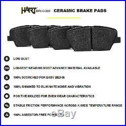FULL KIT BLACK HART DRILLED SLOTTED BRAKE ROTORS & PADS -Hummer H3 2006 2010