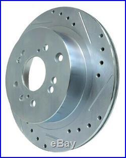 F&R BRAKENETIC SPORT Drill Slot Brake Rotors 26mm Z32 300ZX Conversion 4/5LUG