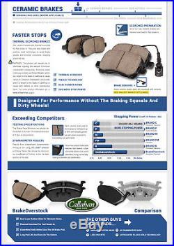 F+R Black Drilled Slotted Brake Rotors & Ceramic Pads Fits Infiniti Nissan