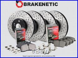 F&R PREMIUM Drill Slot Brake Rotors + POSI QUIET Ceramic Pads BPK57689