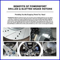 Fit 1995-2001 BMW 740i, 740iL Front Rear Drill Slot Brake Rotors+Ceramic Pads