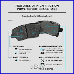 Fit 2002-2003 Subaru Impreza Front Rear Drill Slot Brake Rotors+Ceramic Pads