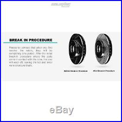 Fit 2006 BMW 330xi Front Rear PSport Black Drill Slot Brake Rotors+Ceramic Pads