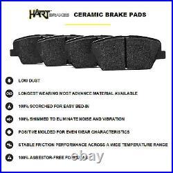Fit 2008-2015 Scion xB Black Hart Full Kit Drill/Slot Brake Rotors+Ceramic Pads