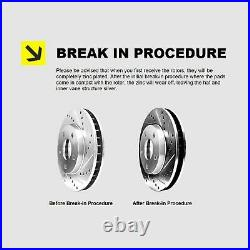 Fit BMW 318i, 318is, 325i Front Rear Drill Slot Brake Rotors+Ceramic Brake Pads