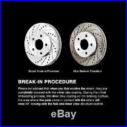 Fit 2010 Subaru Forester Front Rear PowerSport Gold Drill Slot Brake Rotors