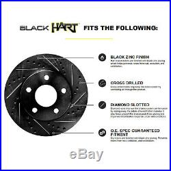 Car & Truck Brakes & Brake Parts Ceramic Brake Pads Fits 2005 Dodge Magnum Rear Black Drill Slot Brake Rotors