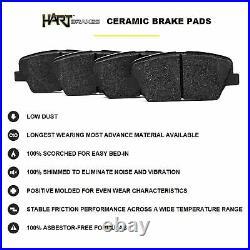 Fits 2012-2015 Volkswagen Passat Rear Black Drill Slot Brake Rotors+Ceramic Pads
