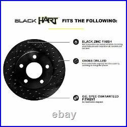 Fits BMW 318i, 318is, 325i Front Rear Black Drill Slot Brake Rotors+Ceramic Pads