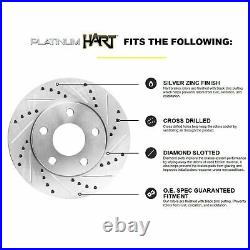 Fits Chevrolet Corvette Front Rear Drill Slot Brake Rotors+Ceramic Brake Pads
