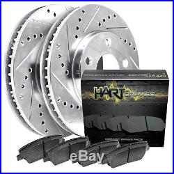 Fits Ford F-150, Expedition Front Drill Slot Brake Rotors+Ceramic Brake Pads