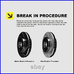 Fits Honda Accord Front Rear Black Drill Slot Brake Rotors+Ceramic Brake Pads