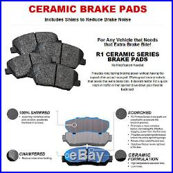 For 1998-2000 Honda Accord Front Rear eLine Drill Slot Brake Rotors+Ceramic Pads