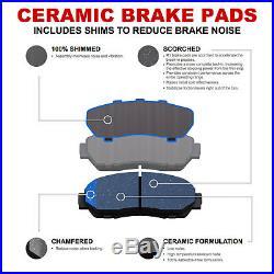 For 2002-2005 Mini Cooper Front Rear eLine Drill Slot Brake Rotors+Ceramic Pads
