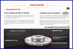 For 2003 2004 Dodge Dakota Front+Rear Drill Slot Brake Rotors And Semi-Met Pads