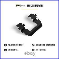 For 2004-2008 Acura TL Black Hart Full Kit Drill/Slot Brake Rotors+Ceramic Pads
