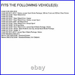 For 2005-2006 Infiniti G35 Front Rear eLine Black Drill Slot Brake Rotors