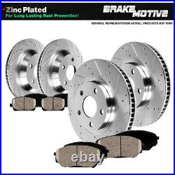 For 2007 2008 2009 Ford Edge MKX Front + Rear Drilled Brake Rotors Ceramic Pads