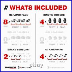 For 2007 2010 Mini Cooper Front+Rear Drill Slot Brake Rotors & Ceramic Pads